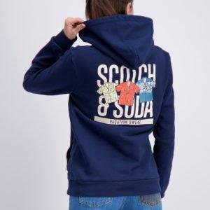 Scotch & Soda Hoody With Artwork Huppari Sininen