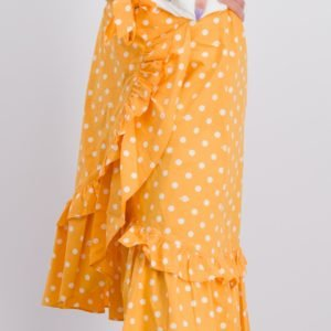 Scotch & Soda Maxi Length Wrap Skirt With Ruffles Hame Kirjava