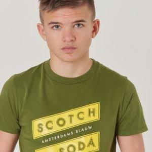 Scotch & Soda Regular Fit Ss Tee T-Paita Vihreä