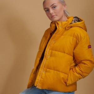 Scotch & Soda Short Length Puffer Jacket Takki Keltainen