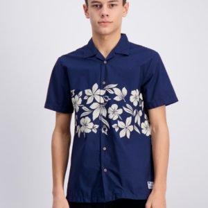 Scotch & Soda Short Sleeve Shirt Kauluspaita Sininen