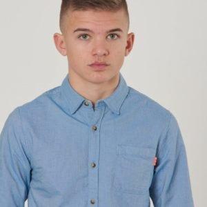 Scotch & Soda Slim Fit Oxford Shirt Kauluspaita Sininen