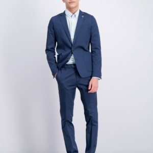 Scotch & Soda Suit With Subtle Yarn Dyed Stripe Puku Kirjava