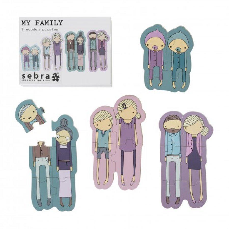 Sebra 4 Palapeliä Laatikossa My Family