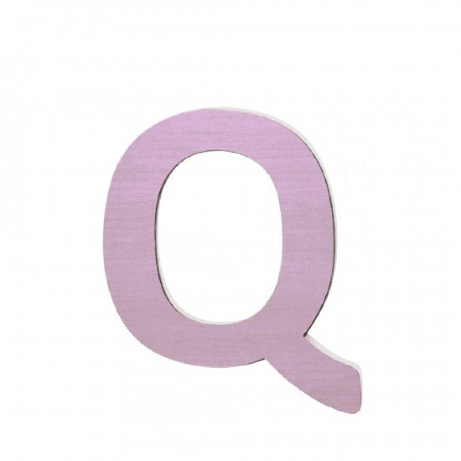 Sebra Kirjain Q Vaaleanpunainen