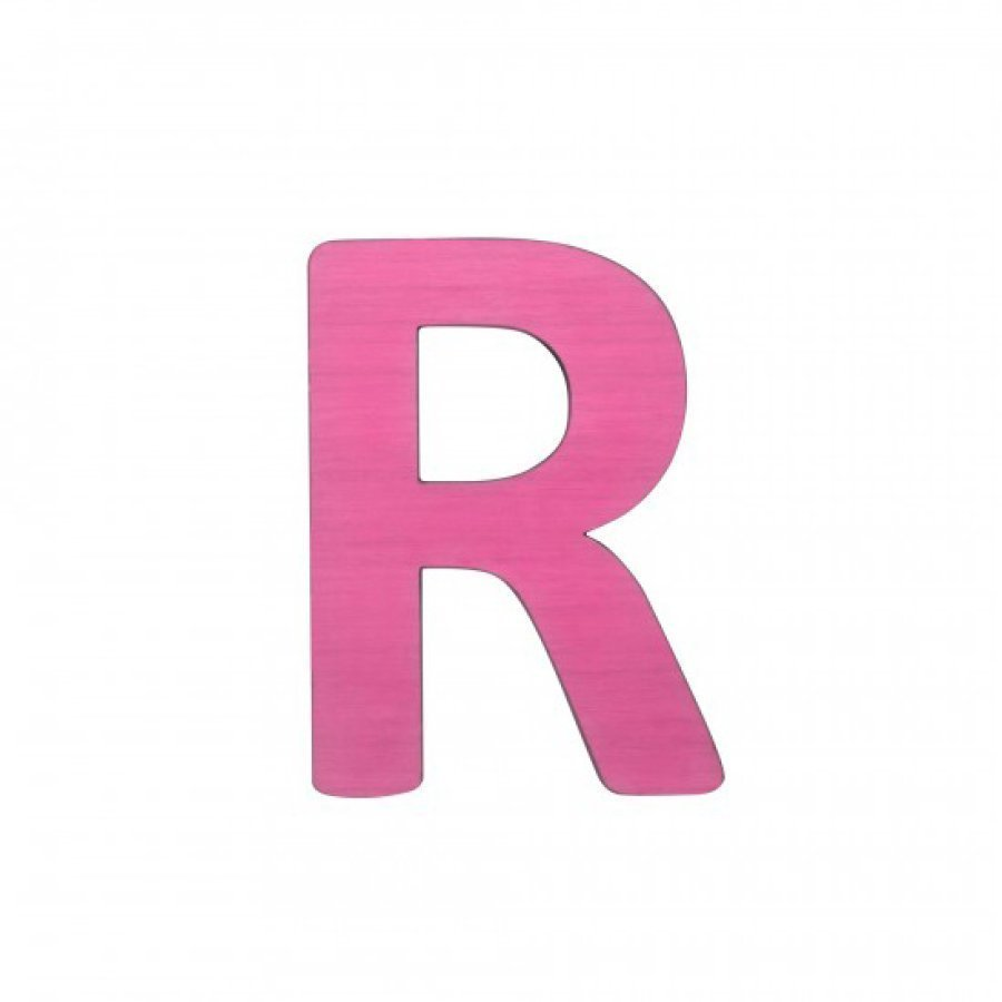 Sebra Kirjain R Pinkki