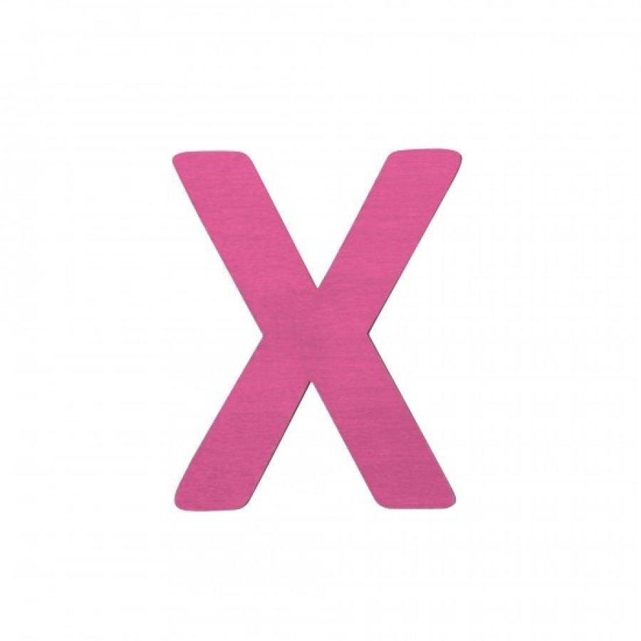 Sebra Kirjain X Pinkki