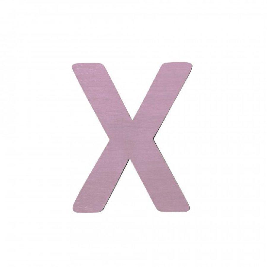 Sebra Kirjain X Vaaleanpunainen