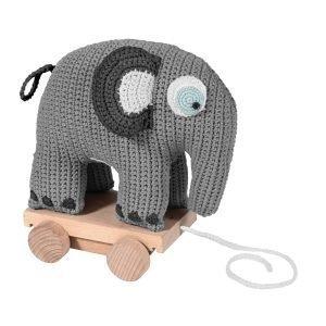 Sebra Virkattu Vetolelu Elefantti Harmaa