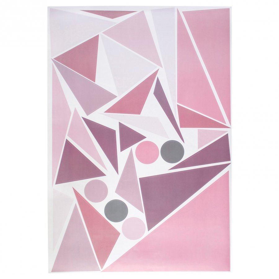 Sebra Wallsticker Geometric Bird Pink Juliste
