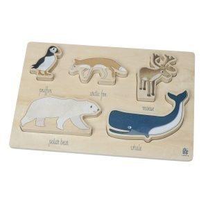 Sebra Wooden Palapeli Arktiset Eläimet