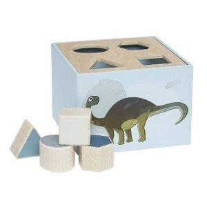 Sebra Wooden Palikkalaatikko Dino