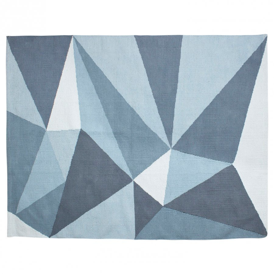 Sebra Woven Floor Mat Large Pastel Blue Matto
