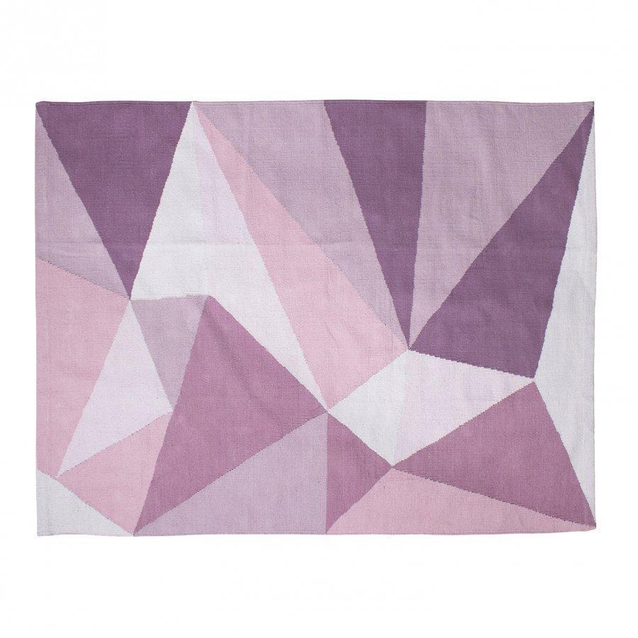 Sebra Woven Floor Mat Large Pastel Pink Matto