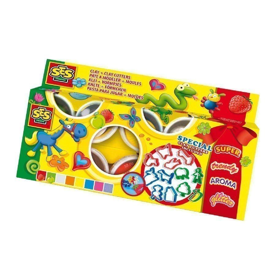 Ses Creative Super Dough Muovailuvahasetti 8 Väriä