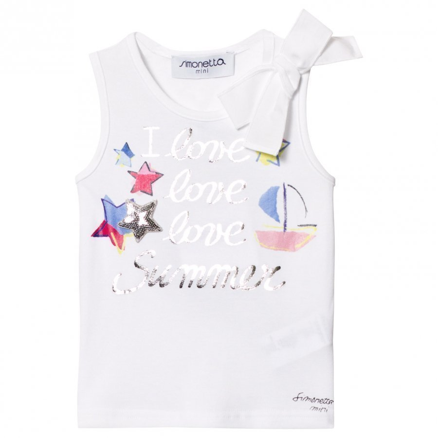 Simonetta I Love Summer Tank Top White Liivi