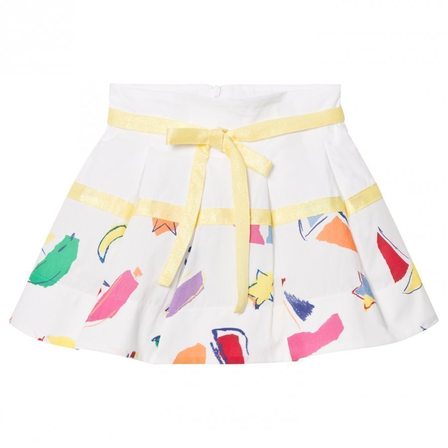 Simonetta Sailing Print Cotton Skirt Lyhyt Hame