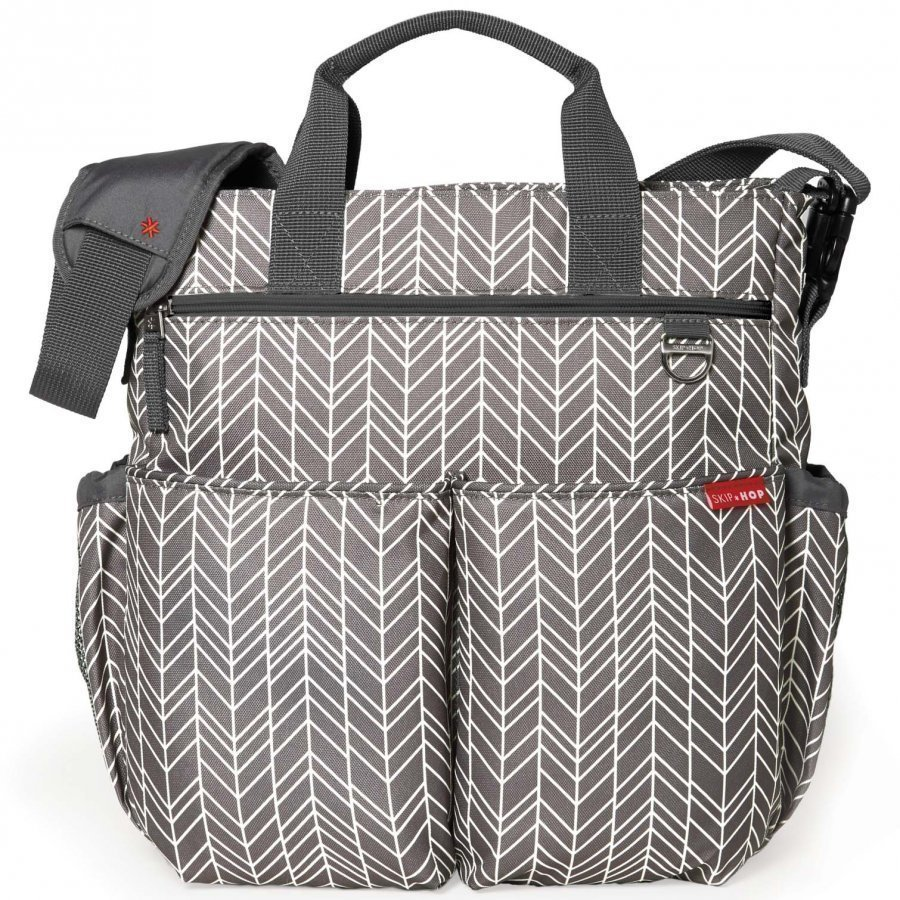 Skip Hop Duo Signature Diaper Bag Grey Feathers Hoitolaukku