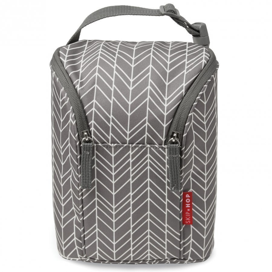 Skip Hop Grab & Go Double Bottle Bag Grey Feather Tuttipullo