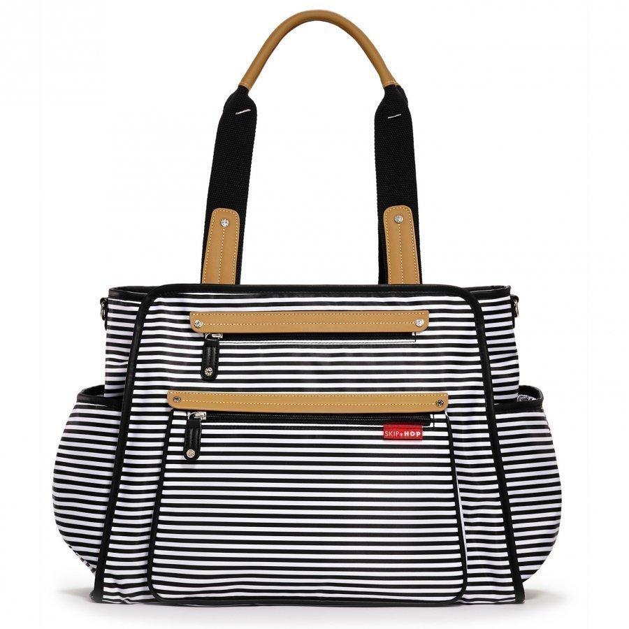 Skip Hop Grand Central Take-It-All Diaper Bag Black Stripe Hoitolaukku