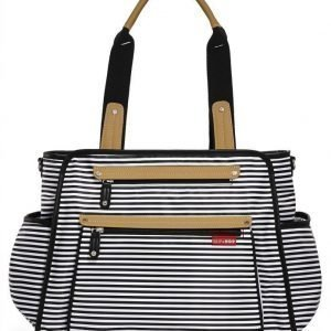 Skip Hop Hoitolaukku Grand Central Black Stripe