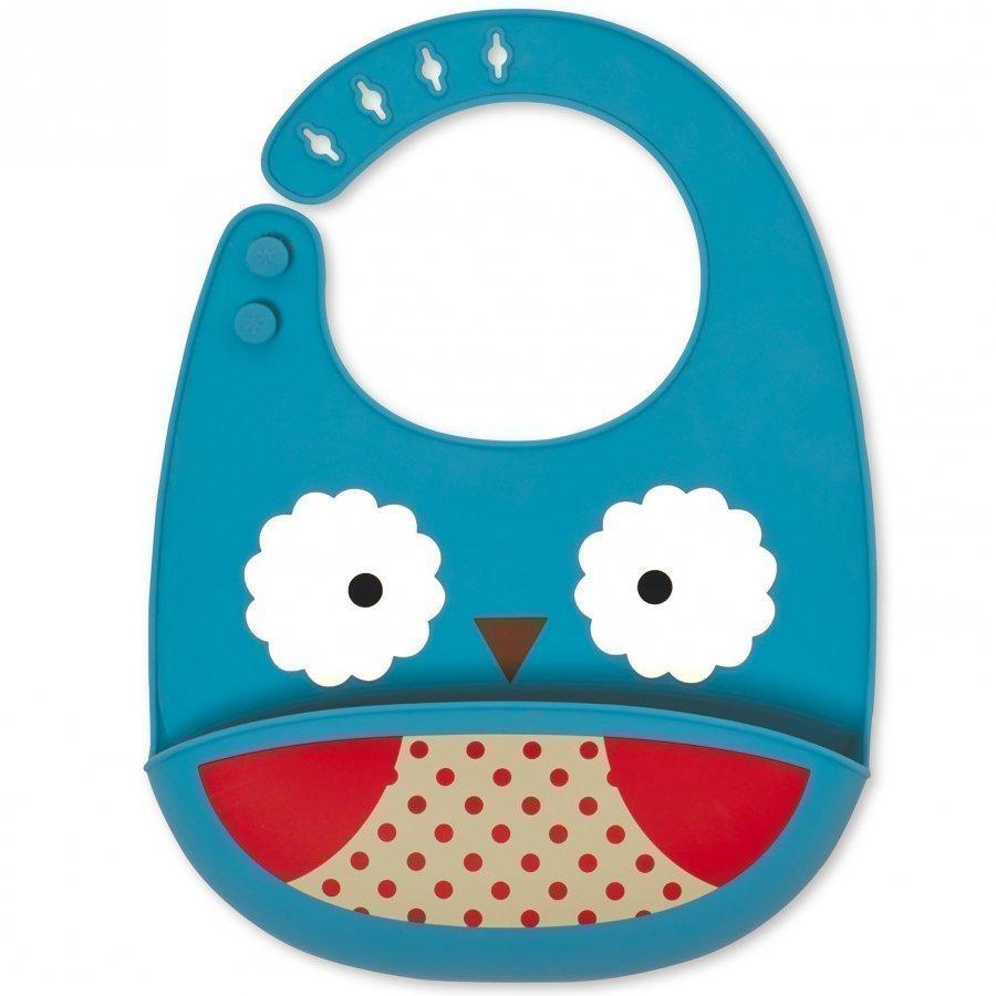 Skip Hop Zoo Fold & Go Silicone Bib Owl Ruokalappu