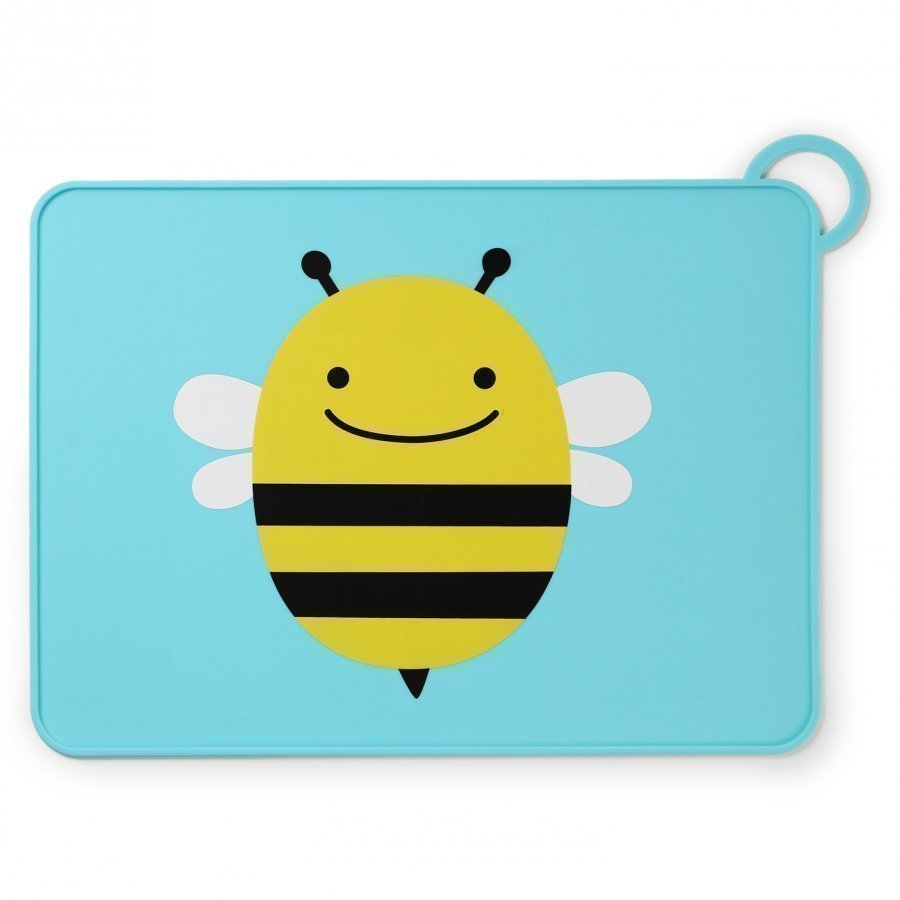 Skip Hop Zoo Fold & Go Silicone Placemat Bee Ruokailusetti