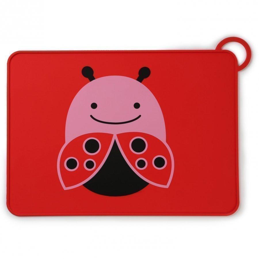 Skip Hop Zoo Fold & Go Silicone Placemat Ladybug Ruokailusetti
