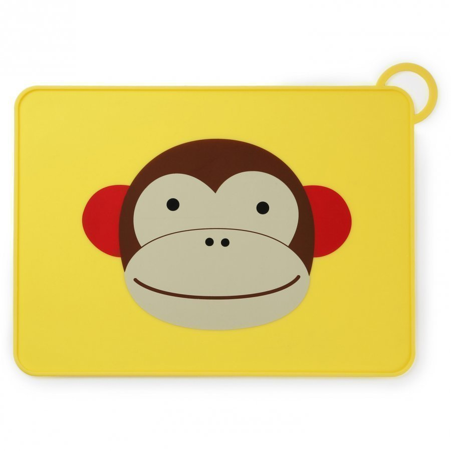 Skip Hop Zoo Fold & Go Silicone Placemat Monkey Ruokailusetti