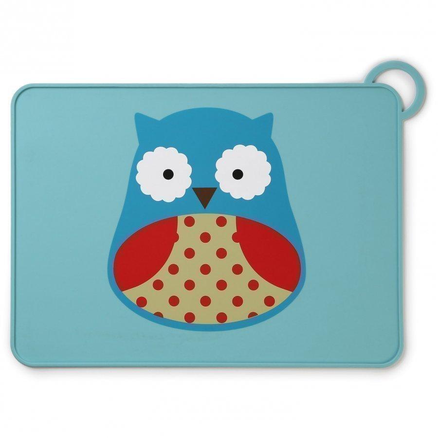 Skip Hop Zoo Fold & Go Silicone Placemat Owl Ruokailusetti