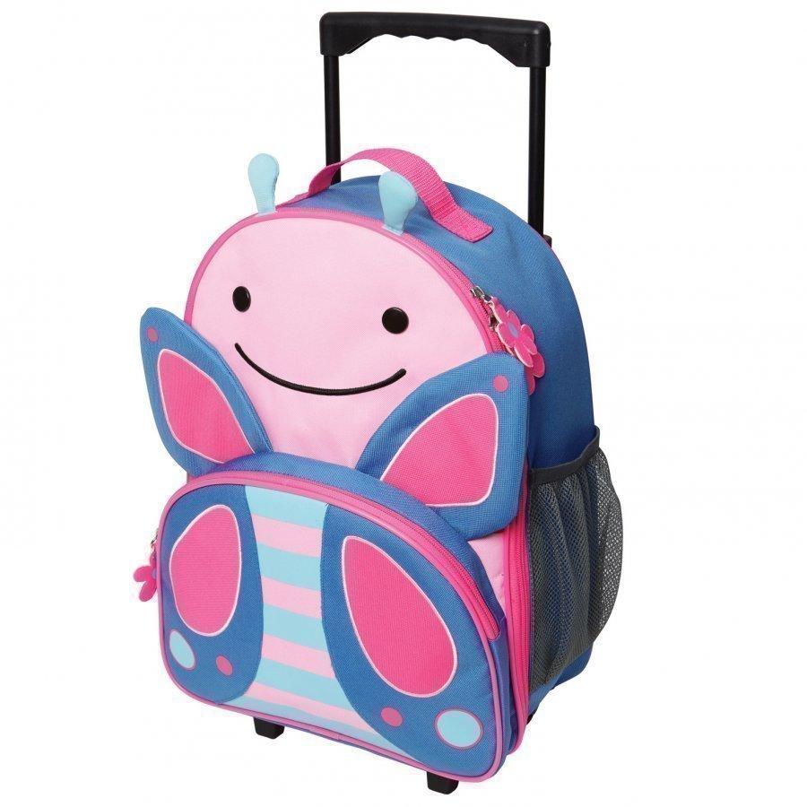 Skip Hop Zoo Kid's Rolling Luggage Butterfly Matkalaukku