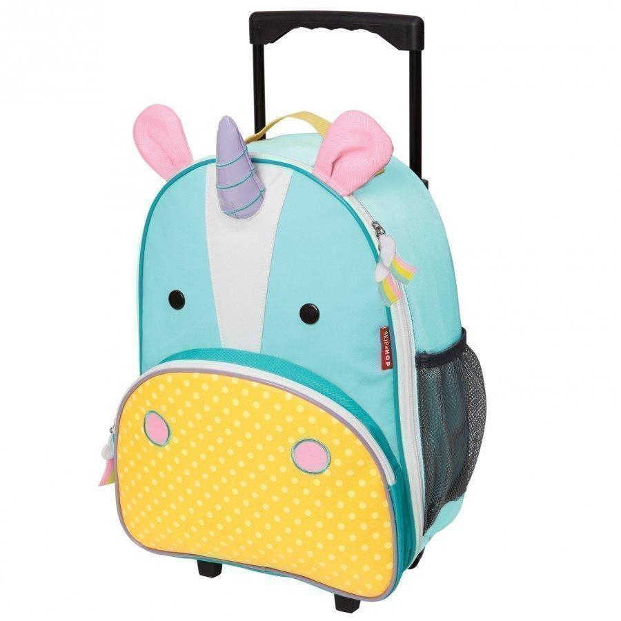 Skip Hop Zoo Kid's Rolling Luggage Unicorn Matkalaukku
