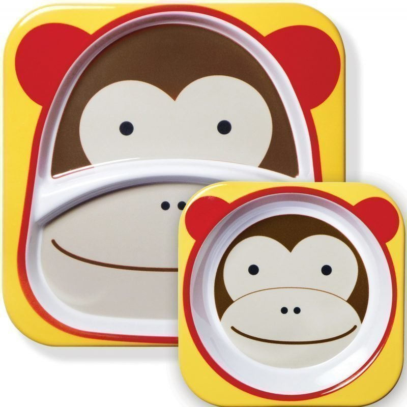 Skip Hop Zoo Lautaset 2 kpl Apina