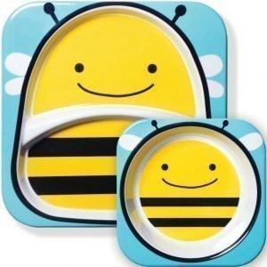 Skip Hop Zoo Lautaset 2 kpl Mehiläinen