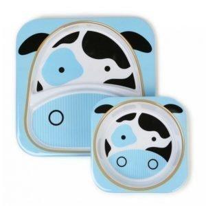 Skip Hop Zoo Lautaset Lehmä