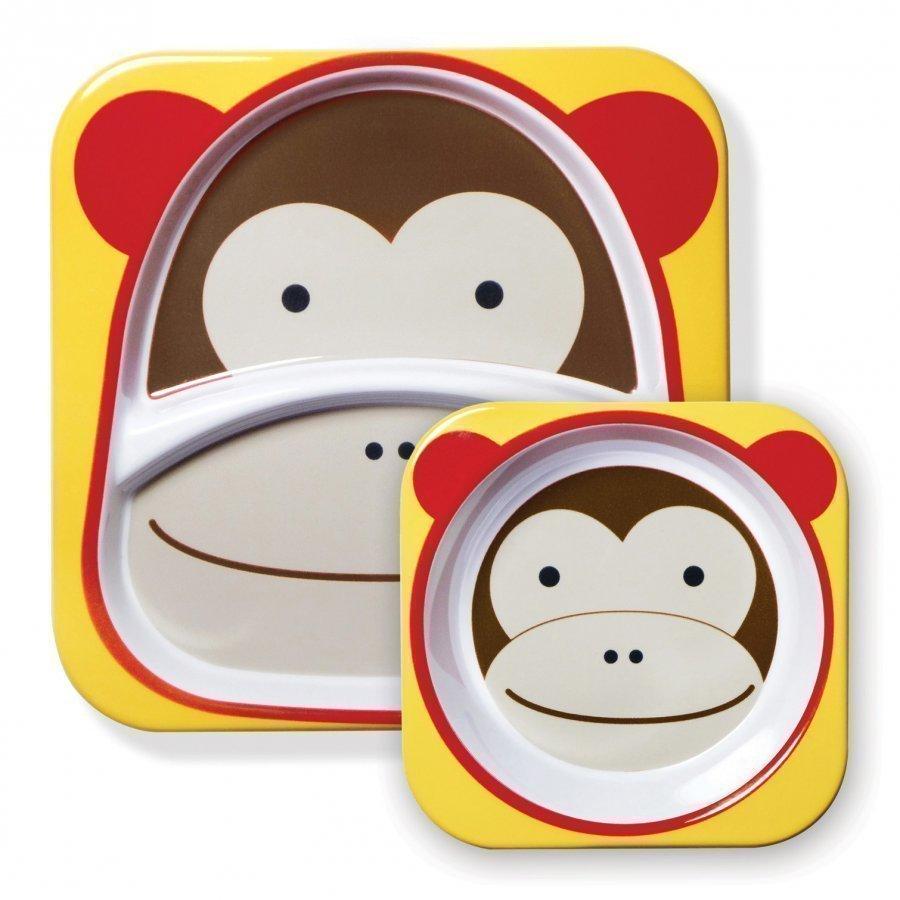 Skip Hop Zoo Plates Monkey Ruokailusetti