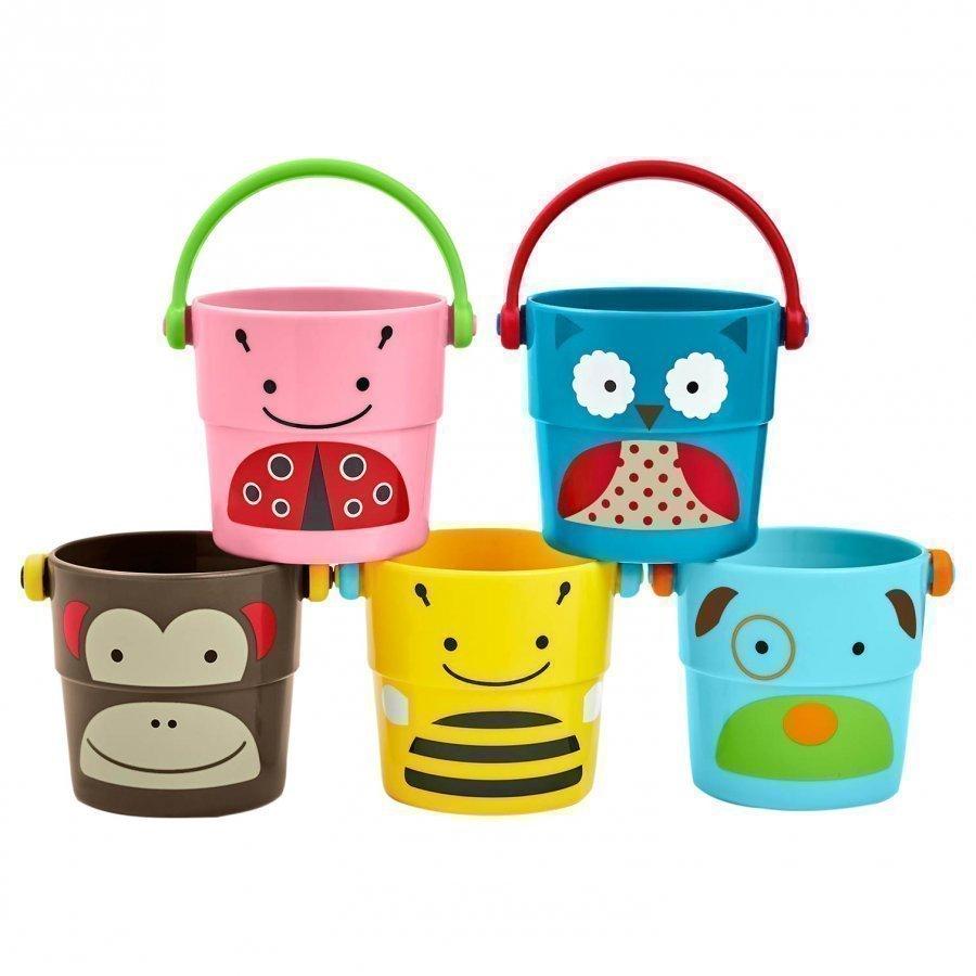 Skip Hop Zoo Stack & Pour Buckets 5-Pack Aktiviteettilelu