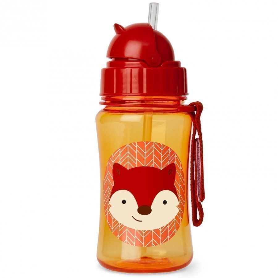 Skip Hop Zoo Straw Bottle Fox Vesipullo