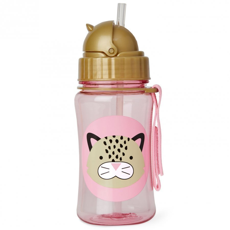 Skip Hop Zoo Straw Bottle Leopard Vesipullo