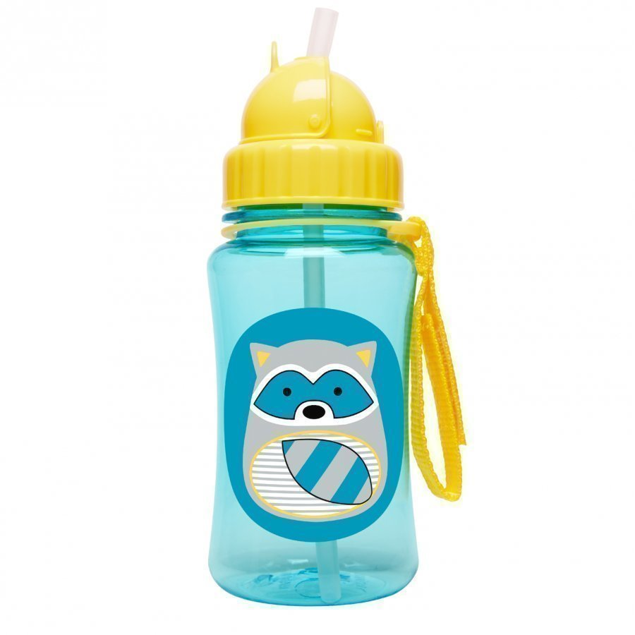 Skip Hop Zoo Straw Bottle Raccoon Vesipullo