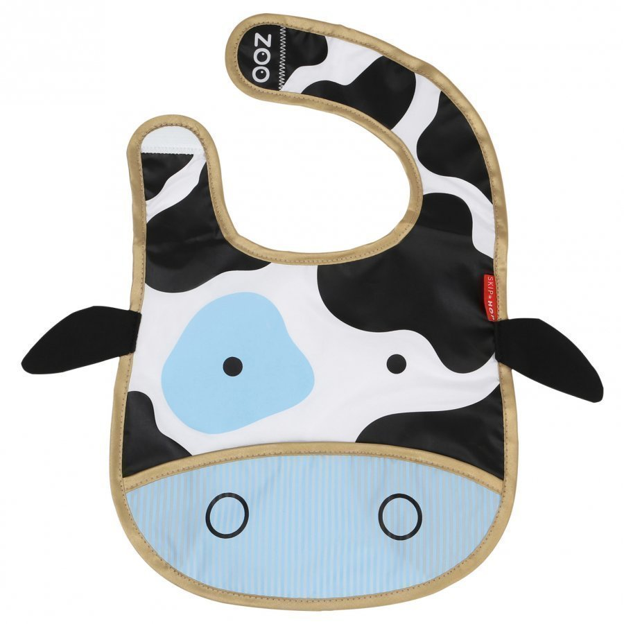 Skip Hop Zoo Tuck-Away Bib Cow Ruokalappu