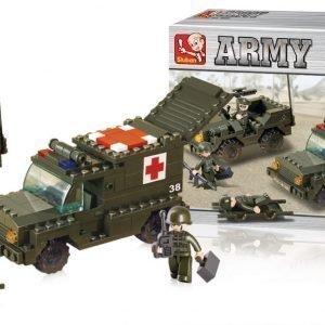 Sluban Ambulance Sluban Army Sarjan Rakennuspalikat