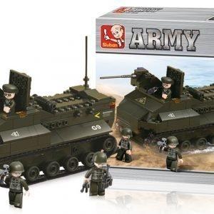 Sluban Armoured Vehicle Sluban Army Sarjan Rakennuspalikat 107781