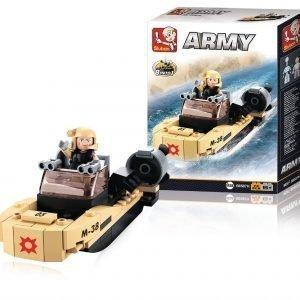 Sluban Assault Boat Sluban Army Sarjan Rakennuspalikat
