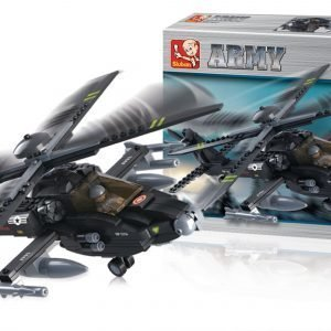 Sluban Attack Helicopter Sluban Army Sarjan Rakennuspalikat 107784