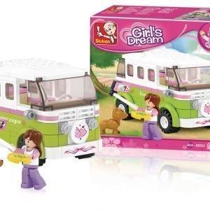 Sluban Camper Van Sluban Girls Dream Sarjan Rakennuspalikat