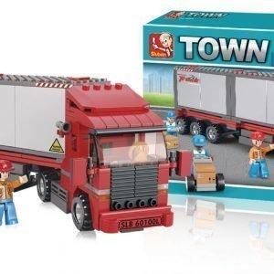 Sluban Container Truck Sluban Town Sarjan Rakennuspalikat