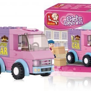Sluban Delivery Van Sluban Girls Dream Sarjan Rakennuspalikat
