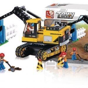 Sluban Excavator Sluban Town Sarjan Rakennuspalikat 107894