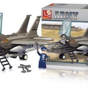Sluban Fighter Jet Sluban Army Sarjan Rakennuspalikat 107791